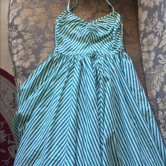 Topshop Dresses & Skirts - Beautiful H&M Green Stripe Summer Dress